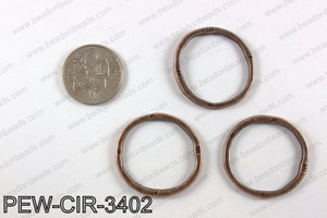 Pewter circle 34mm, copper PEW-CIR-3402