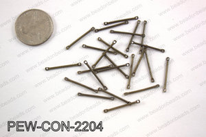 Pewter connector bar 2x22mm, brassPEW-CON-2204