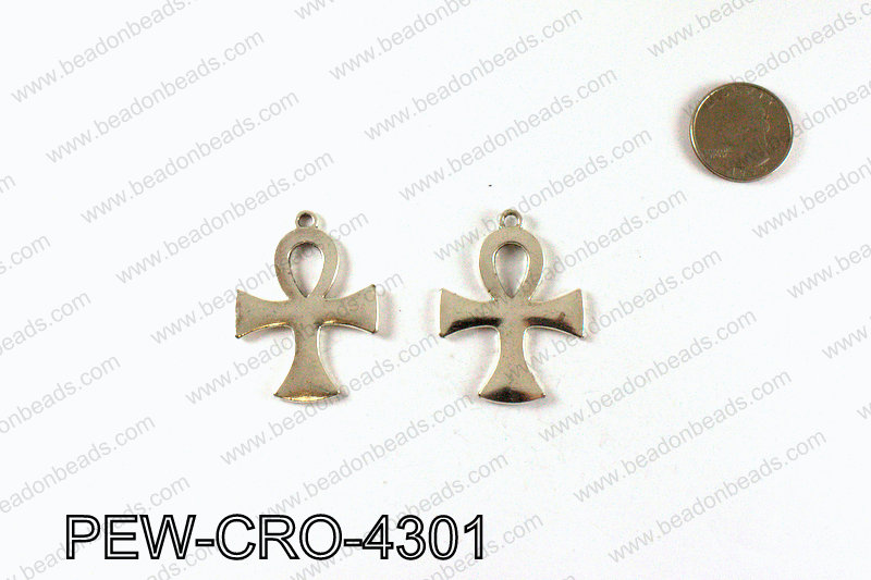 ANKH cross pendant 43x33mm, Silver PEW-CRO-4301