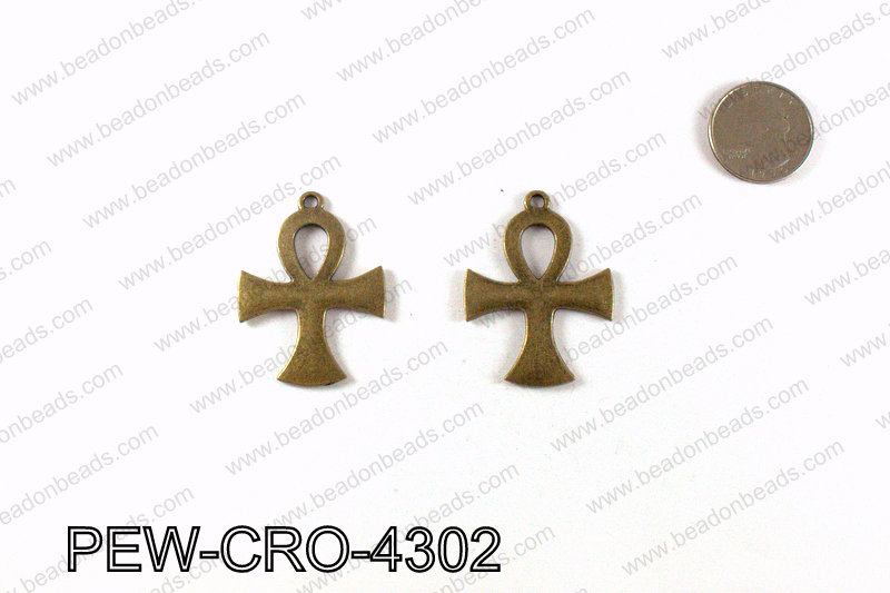 ANKH cross pendant 43x33mm, Bronze PEW-CRO-4302