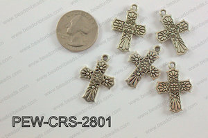 Pewter Cross silver 20mm x 28mm PEW-CRS-2801