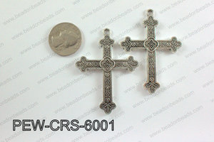 Pewter Cross silver 45mm x 60mm PEW-CRS-6001