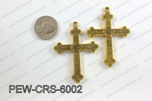Pewter Cross gold 45mm x 60mm PEW-CRS-6002
