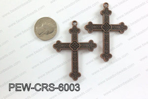 Pewter Cross copper 45mm x 60mm PEW-CRS-6003
