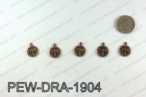 Pewter Dragonfly charms 19x15mm, Copper PEW-DRA-1904