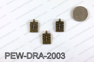 Pewter Dragonfly charms 20x13mm, Bronze PEW-DRA-2003