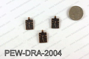 Pewter Dragonfly charms 20x13mm, Copper PEW-DRA-2004