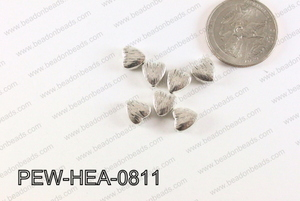 Heart Spacer Silver 8mm PEW-HEA-0811
