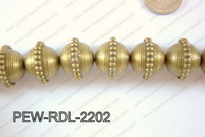 Pewter Bead Rondel 15 pcs 22mm PEW-RDL-2202