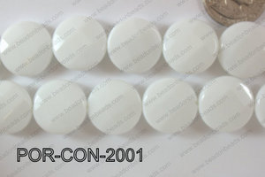 Porcelain Coin Faceted 20mm POR-CON-2001