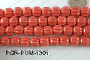 Porcelain Pumpkin 12x13mm red POR-PUM-1301