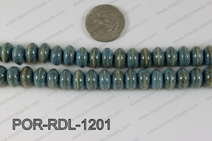 Porcelain Rondel Blue 12mm POR-RDL-1201