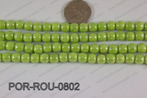 Porcelain Round Green 8mm POR-ROU-0802