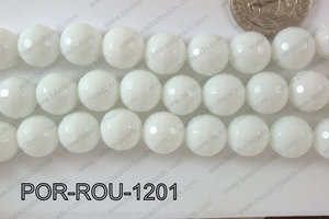 Porcelain Round Faceted 12mm POR-ROU-1201