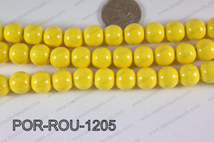 Porcelain Round Yellow 12mm POR-ROU-1205