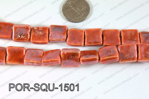 Porcelain Square Red 15mm POR-SQU-1501