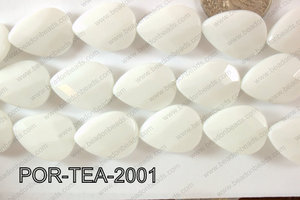 Porcelain Teardrop Faceted 16x20mm POR-TEA-2001