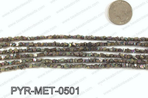 Pyrite metallic coated nuggets 5x5mm PYR-MET-0501