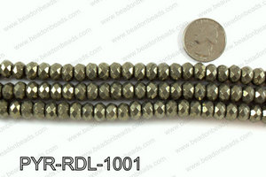 Pyrite rondelle faceted 10mm PYR-RDL-1001