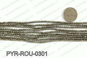 Pyrite round faceted 3mm PYR-ROU-0301