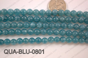 Dyed Blue Quartz Round 8mm QUA-BLU-0801