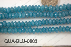 Blue Quartz Rondel Faceted 8mm QUA-BLU-0803