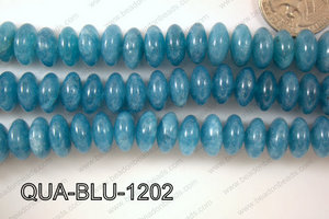 Blue Quartz Rondel 12mm QUA-BLU-1202