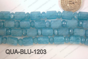 Blue Quartz 10x12mm Tube 8mm Rondel QUA-BLU-1203