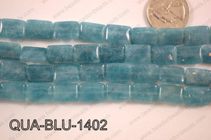 Dyed Blue Quartz Rectangle 11x14mm QUA-BLU-1402