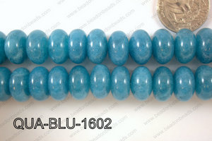 Blue Quartz Rondel 16mm QUA-BLU-1602