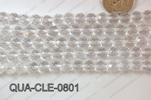 Clear Quartz Round Faceted 8mm QUA-CLE-0801