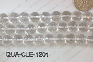 Clear Quartz Round Faceted 12mm QUA-CLE-1201