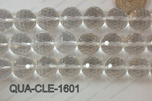 Clear Quartz Round Faceted 16mm QUA-CLE-1601