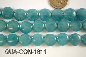 Dyed Blue Quartz Coin 16mm QUA-CON-1611