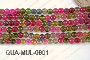 Multicolor Quartz Round 6mm QUA-MUL-0601