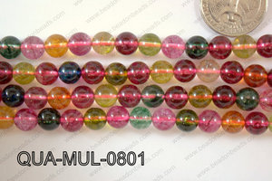Multicolor Quartz Round 8mm QUA-MUL-0801