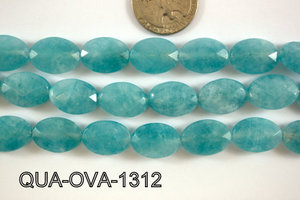 Dyed Blue Quartz Faceted Oval 13x18mm QUA-OVA-1312