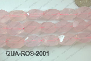 Rose Quartz Nugget Faceted 15x20mm QUA-ROS-2001