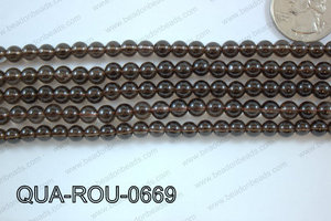 Smoky Quartz Round 6mm QUA-ROU-0669