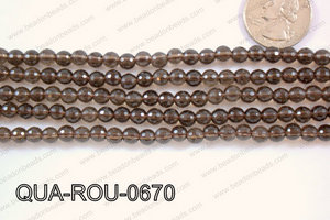 Smoky Quartz Round Faceted 6mm QUA-ROU-0670