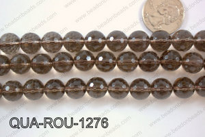 Smoky Quartz Round Faceted 12mm QUA-ROU-1276