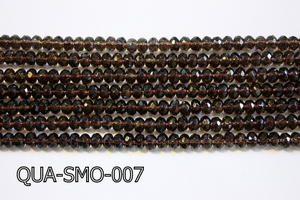 Smoky Quartz Faceted Rondel 5x8mm QUA-SMO-007