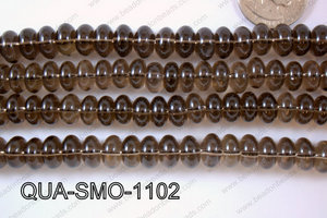Smoky Quartz Rondel 11mm QUA-SMO-1102