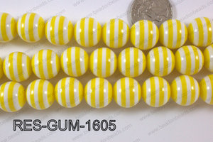 Bubble Gum Bead 16mm RES-GUM-1605