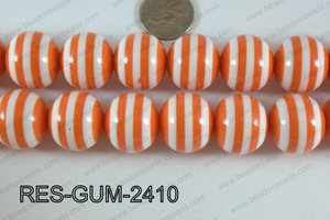 Acrylic Gum Ball Orange 24mm RES-GUM-2410