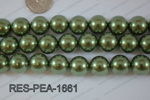 Resin Pearl Round 16mm Green RES-PEA-1661