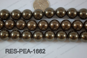 Resin Pearl Round 16mm Brown RES-PEA-1662