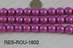 Resin round satin 16mm Hot pink RES-ROU-1602
