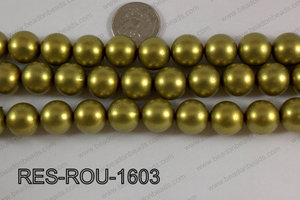 Resin round satin 16mm gold RES-ROU-1603