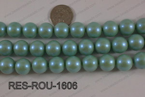 Resin round satin 16mm turquoise RES-ROU-1606